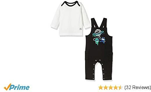 Baby Boys or Girls Spring Outfit Sleeveless Romper Jumpsuit and T-Shirt 2-Piece Set: Clothing