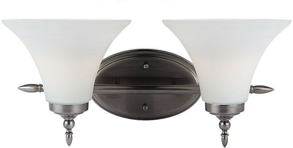 Sea Gull Lighting Montreal 2-Light Antique Brushed Nickel Vanity Light 41181-965