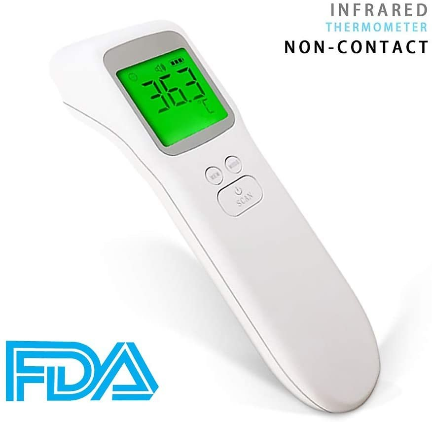 Infrared Forehead Ear Digital Thermometer Non-Touch Accurate Instant Readings Body Temperature Measurement Gun with LCD Display for Kids Baby/Adult and Surface of Objects: Health & Personal Care