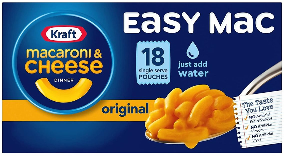 18-Pack Kraft Easy Mac & Cheese