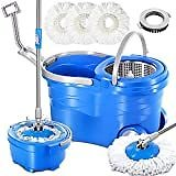 O-Cedar Easywring Microfiber Spin Mop & Bucket Floor Cleaning System with 2 Extra Refills: Home & Kitchen