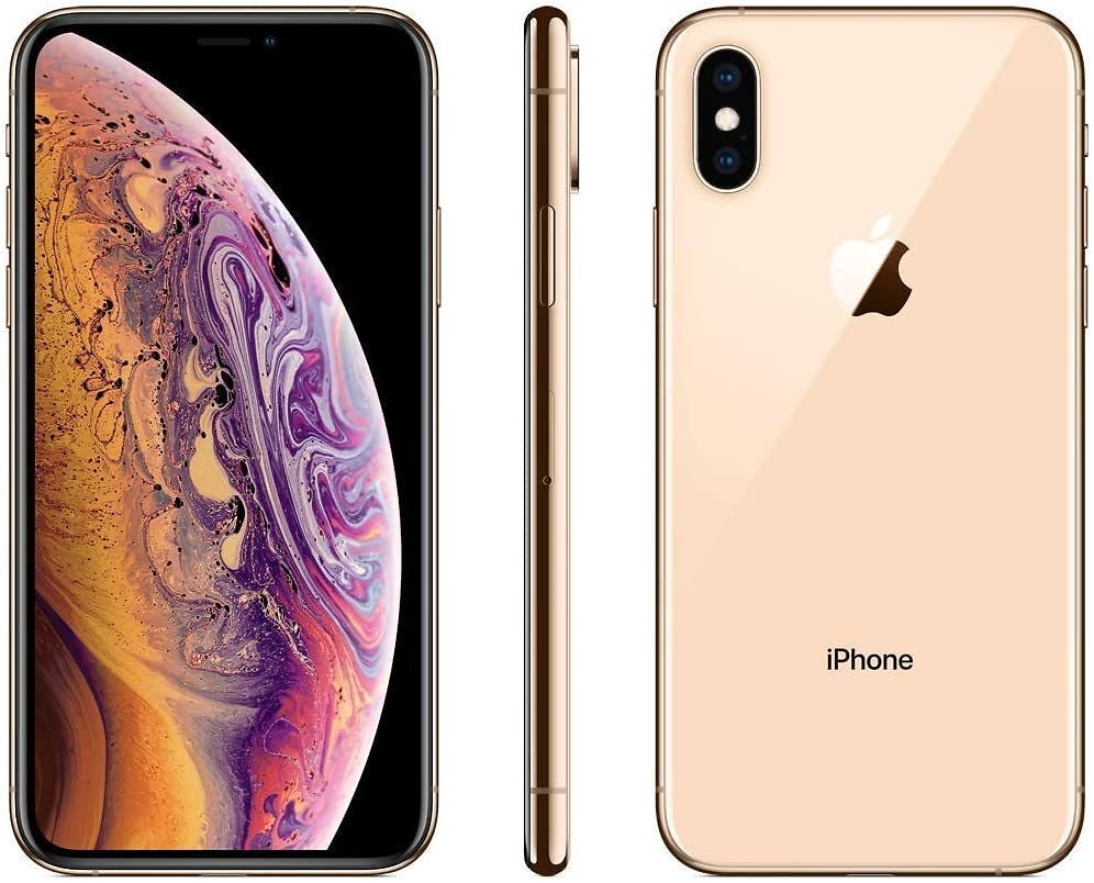 Renewed iPhone XS, 64 GB, Fully Unlocked (Gold & Space Gray)