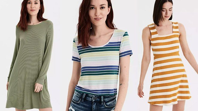 Up to 70% Off American Eagle Women's Tops, Jeans & Dresses (Starting At Just $7!)