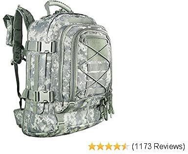 PANS Military Expandable Travel Backpack Tactical Waterproof Outdoor 3-Day Bag,Large,Molle System for Travel,Hiking,Camping,Trekking,Outdoor Sports,Work(ACU)