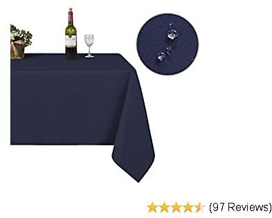 Rectangle Table Cloth – 60 X 84 Inch Waterproof and Stain Resistant Microfiber Tablecloth, Decorative Table Cover