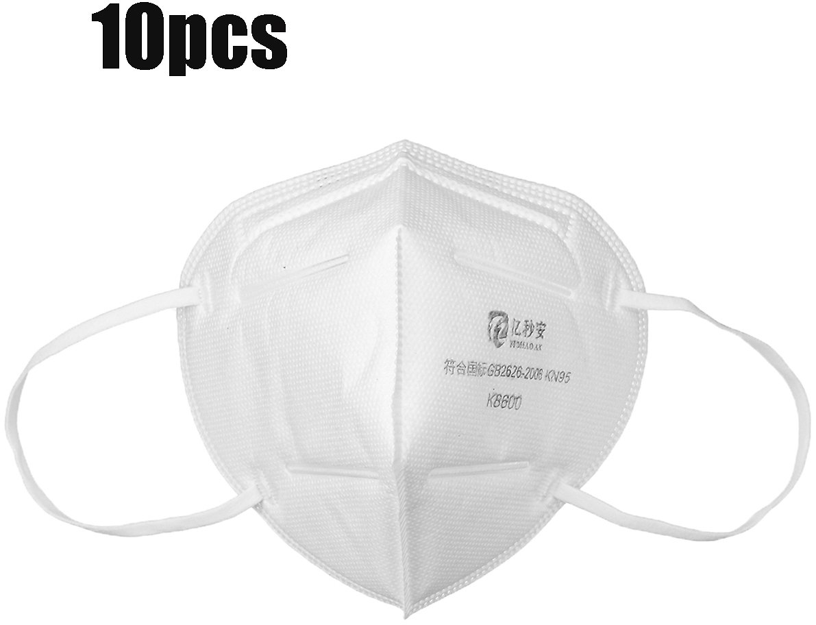 10Pcs - KN95 3D Fold-able Face Mask, 4-layer Dust Proof, Non-Woven Air Filter for Comfortable Breathing