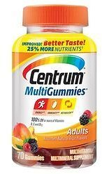 Centrum Adult MultiGummies - 70 Gummies - EVitamins.com