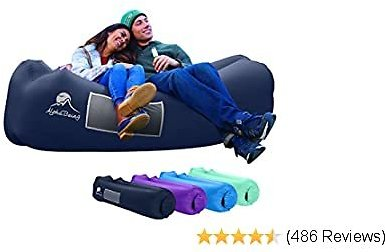 AlphaBeing Inflatable Lounger - Best Air Lounger Travelling, Camping, Hiking - Ideal Inflatable Couch Pool Beach Parties - Perfect Air Chair Picnics Festivals