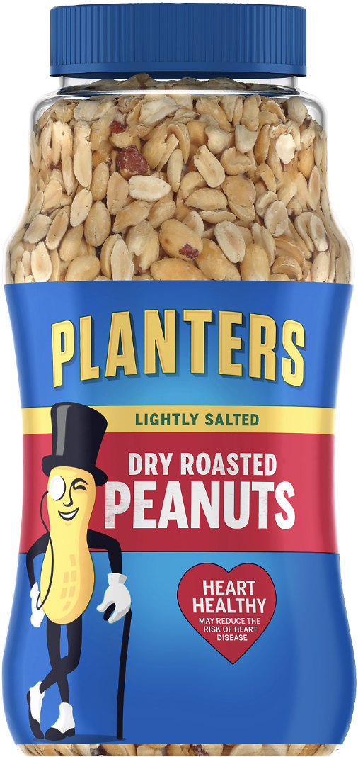 Planters Dry Roasted Peanuts Lightly Salted, 16 Ounces