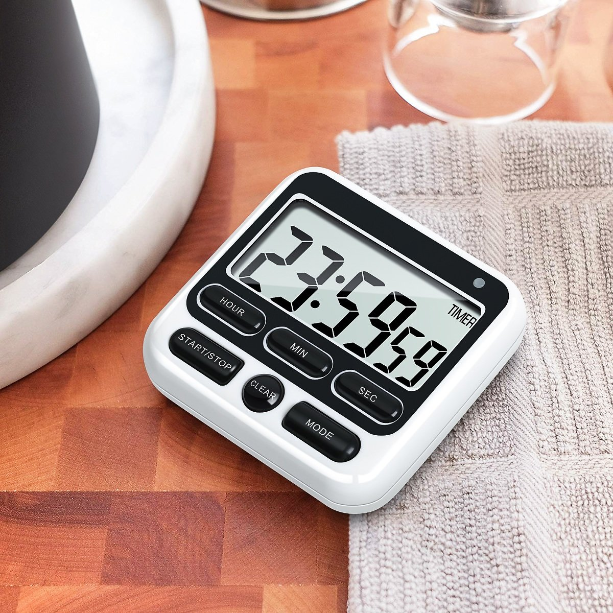 30% OFF Kitchen Timer, Easy to Read, Accuracy, Loud