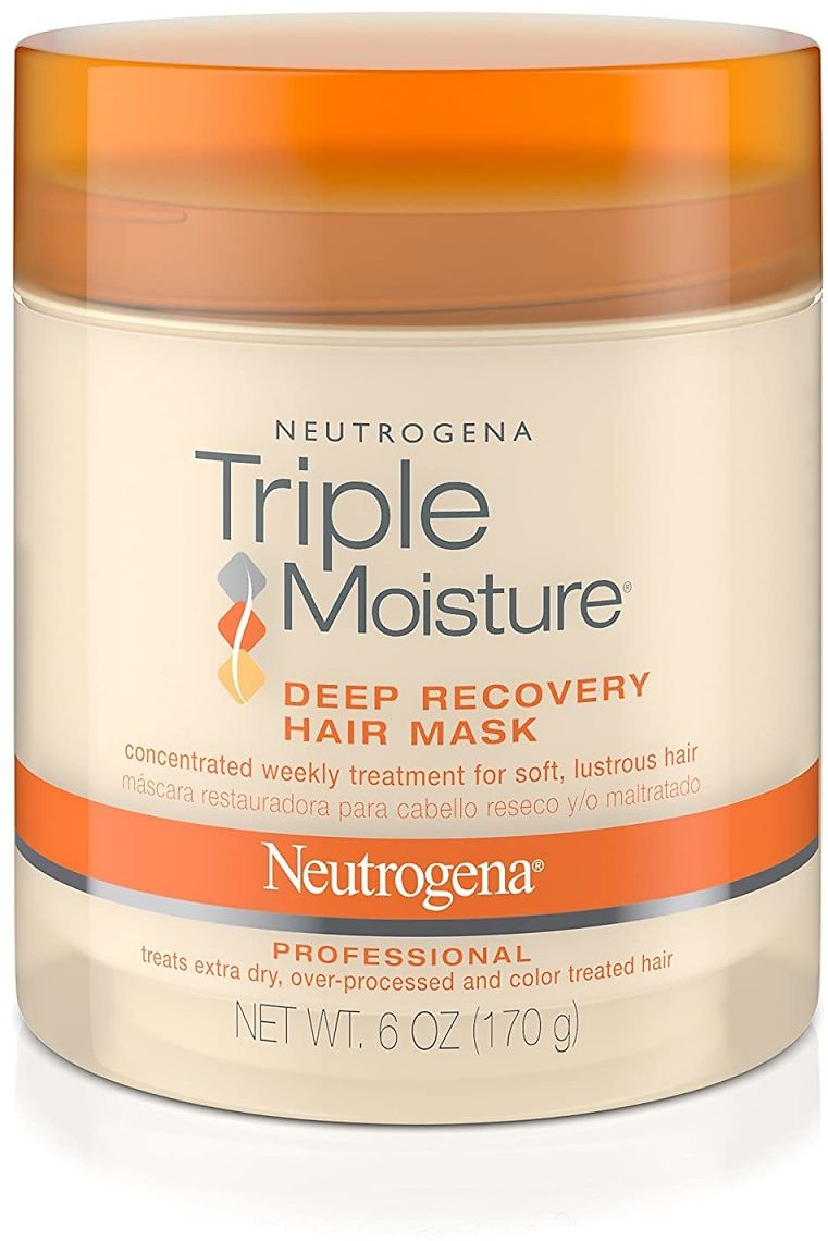 Save 8% | Pack of 2 - Neutrogena Triple Moisture Deep Recovery Hair Mask Moisturizer for Extra Dry Hair, 6 Oz