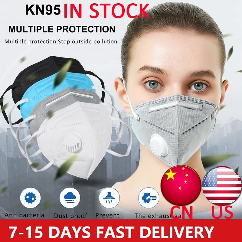 10pcs Masks KN95 Disposable Masks with Breathing Valve Masks Hanging Ear Dust Masks Unisex Mask Anti-Pollution Dust Facemask