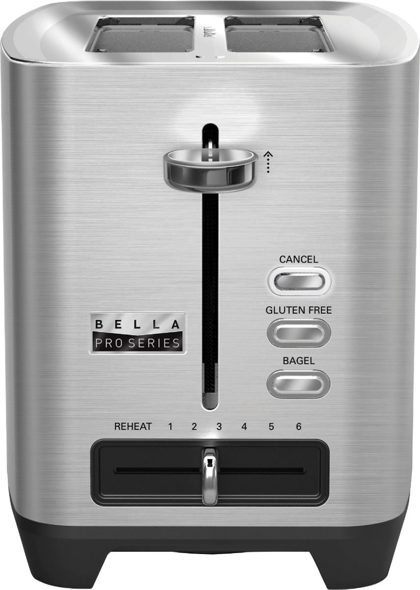 Save 20%! Bella - Pro Series 2-Slice Extra-Wide-Slot Toaster - Stainless Steel + Free Curbside Pickup or $7.49 Shipping!