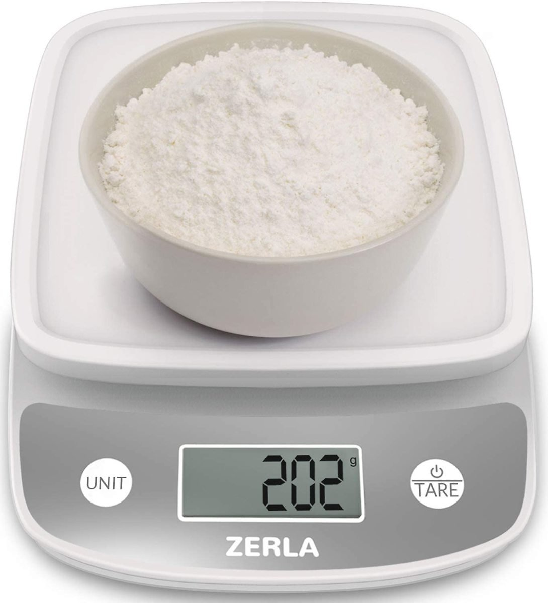 Digital Kitchen Scale By ZERLA, Multifunction Food Scale with Range From 0.04oz to 11lbs, White: Kitchen & Dining