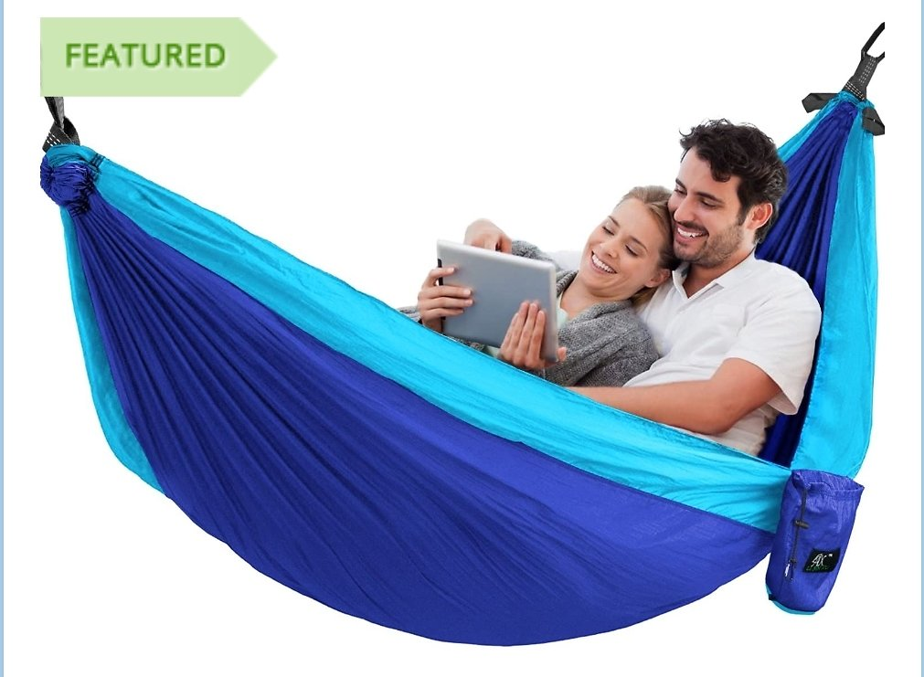 Ultra Light Parachute Hammock w/ Built In Travel Bag - Choose Single or Double-wide - Create a Little Piece of Tranquil Paradise in Your Backyard! - $1.49 Shipping, But Order 3 or More and SHIPPING IS FREE!