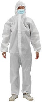 Reusable Protective Overalls Suit Splashproof Protective Isolation Clothing