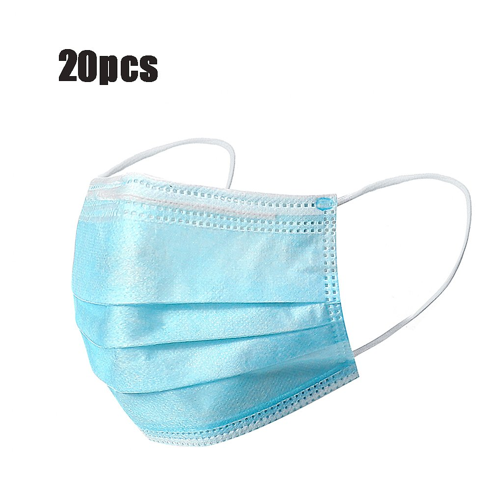 Save 67% | 20 Pcs – Disposable Surgical Face Masks, 3-layer Dust-Proof Personal Protection Against Viruses