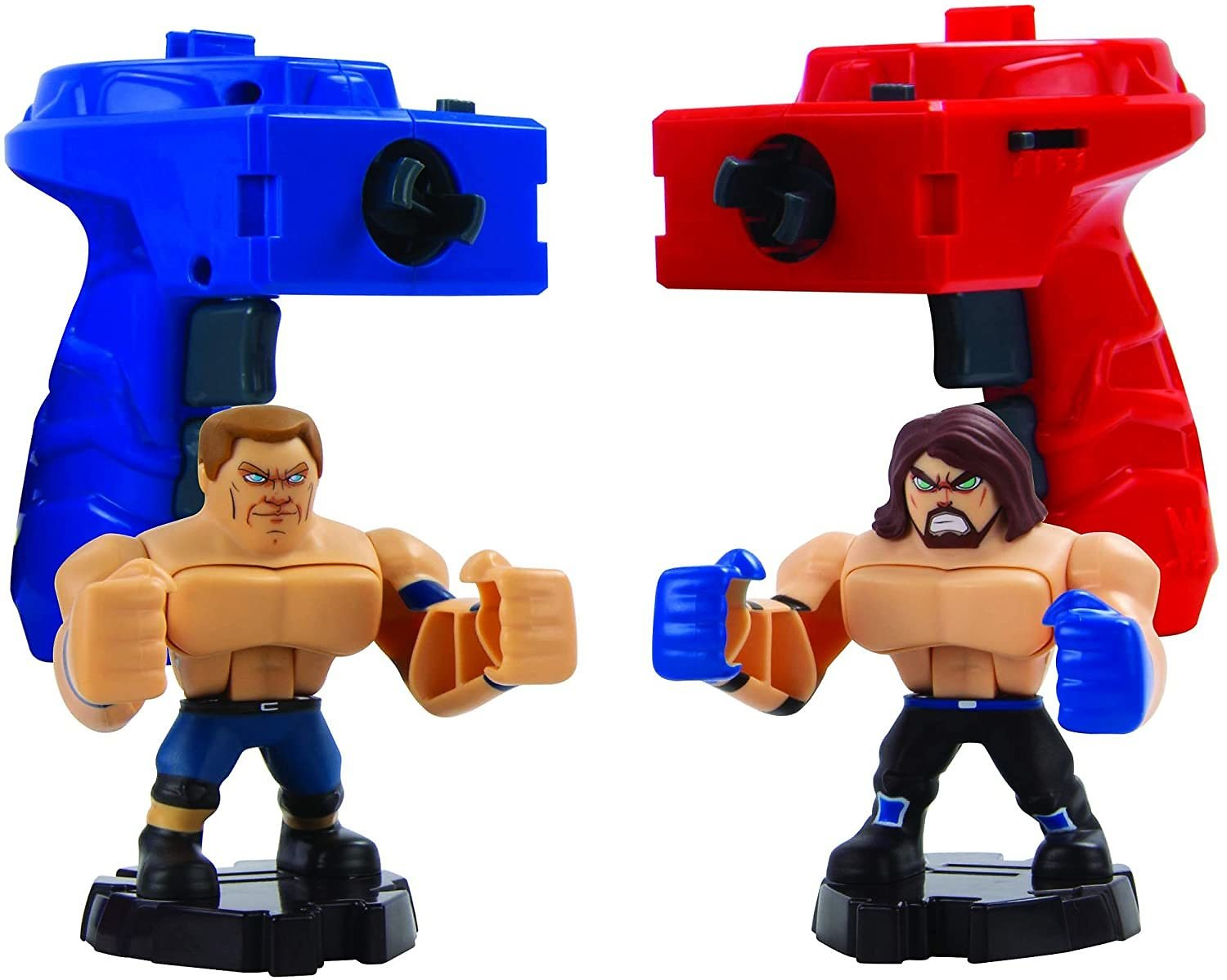 TOMY WWE Action Figures Battle Game Set with Handheld Controllers for Kids, Smash Brawler