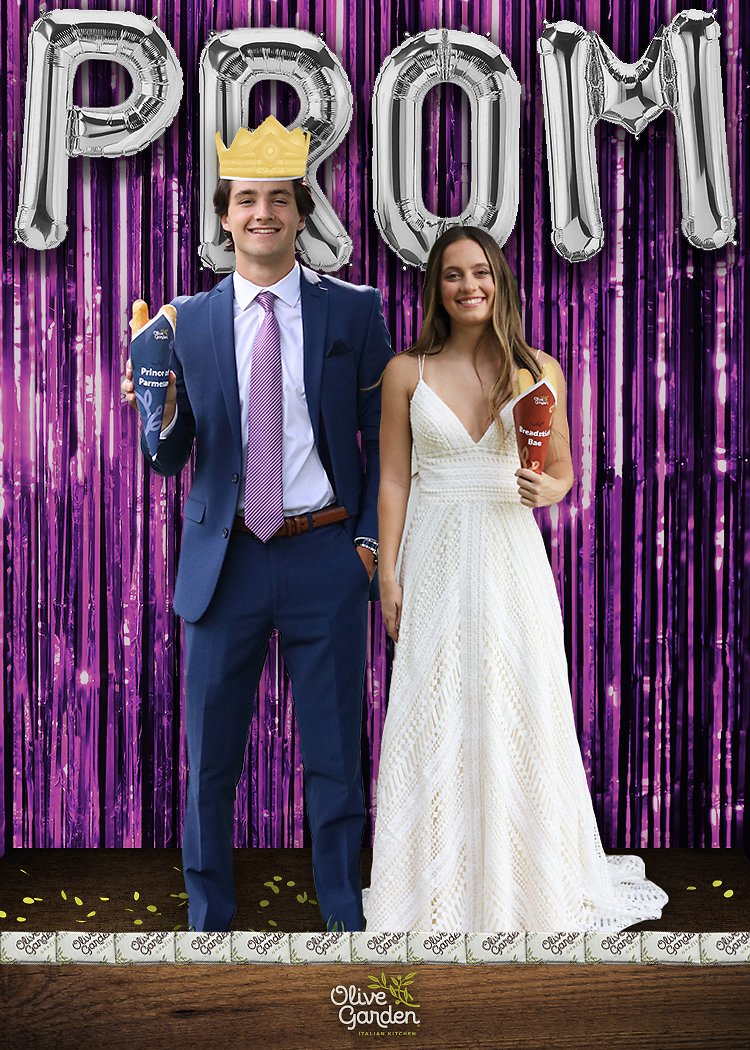 Olive Garden Is Creating Custom Photos for High Schoolers Missing Prom This Year