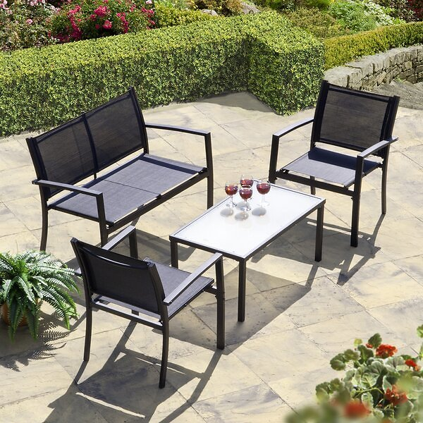 Brasilia 4 Piece Sofa Seating Group