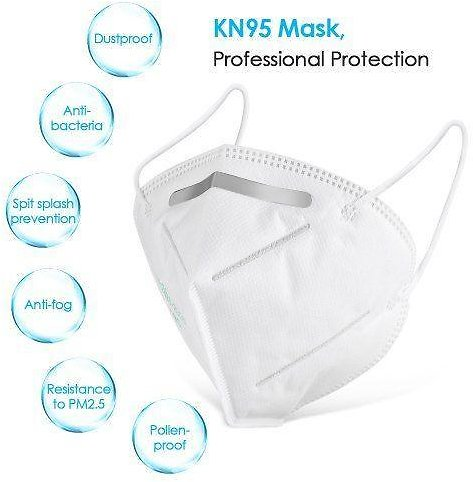 4-layer KN95 Face Mask with Elastic Ear Loop Surgical Respirator Mask