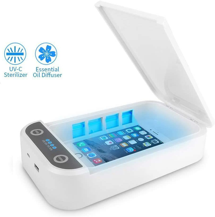 Ultraviolet Light Mask Sanitizer UV-Clean Disinfection for Face Mask, Makeup Tools, Mobile Phone, Toothbrush, Jewelry, Watches Fast & Effective Sterilization Disinfector Box