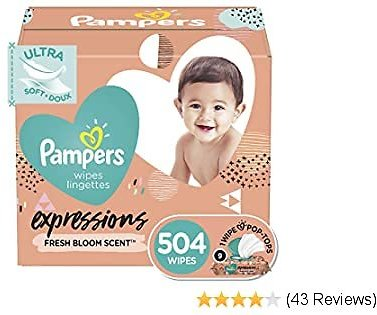Pampers Expressions Baby Wipes 504-Count ONLY $14.99 At Amazon – $1.66 Per Pack!