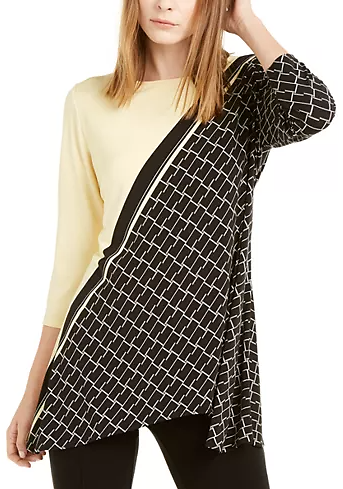 Alfani Printed High Low Tunic, Created for Macy's & Reviews - Women