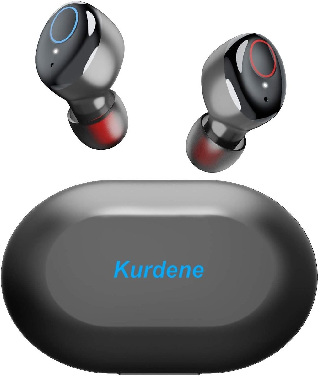 Kurdene Bluetooth Wireless Earbuds,Bluetooth Wireless Headphones with Charging Case Immersive Sounds IPX8 Waterproof Touch Contr