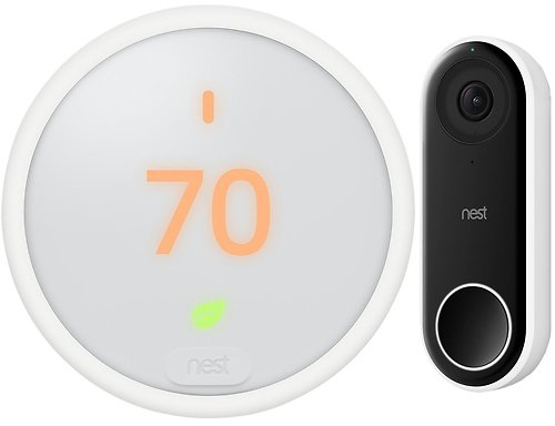 Google Nest Thermostat E Learning T4000ES + Hello Video Smart Wifi Doorbell + Free Shipping