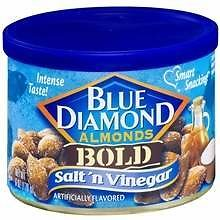 2 Blue Diamond Bold Almonds Salt N Vinegar 6.0oz