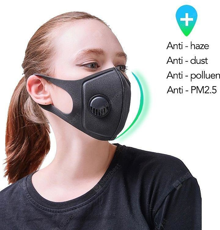 Contaminated Half Face Mask With Reusable Washable With Breathing Valve Sale