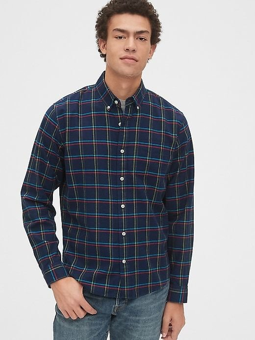 GAP Lived-In Stretch Oxford Shirt in Untucked Fit (3 Colors)