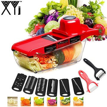XYJ CCFG8901 Multi-function Vegetable Cutter Steel Blade Mandoline Slicer Potato Peeler Carrot Cheese Grater Vegetable Slicing ToolKitchen,Dining & BarfromHome and Gardenon Banggood.com