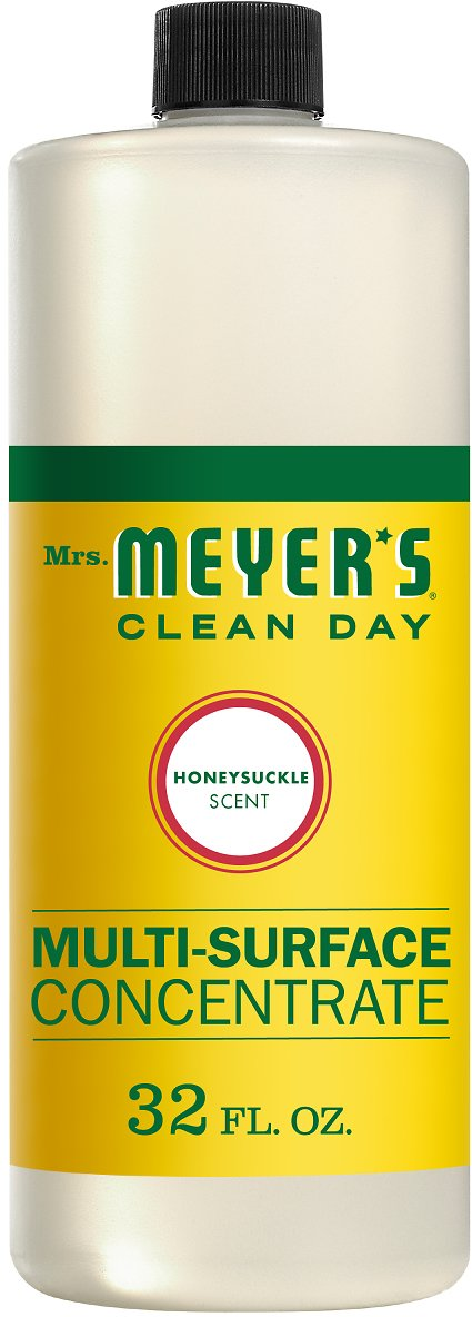 Mrs. Meyer's Clean Day Multi-Surface Concentrate Bottle, Honeysuckle Scent, 32 Fl Oz