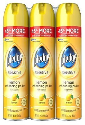 3Pack Pledge Furniture Spray, Choose Your Scent (14.2 Oz)