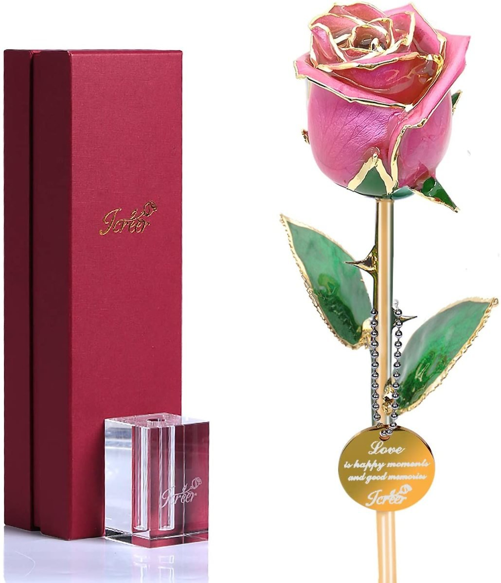 34% OFF | Gold Rose Flower Gold Dipped Real Roses