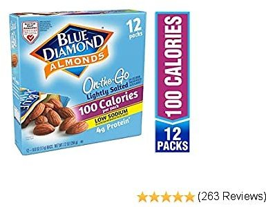 AMAZON: 12 Count Blue Diamond Almonds On The Go 100 Calorie Packs, Lightly Salted for $5.34