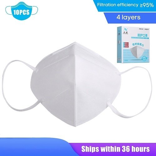 10PCS KN95 Face-Mask Disposable Anti PM2.5 Anti Particle Respirator-Mask Breathable Dustproof Mouth-Mask