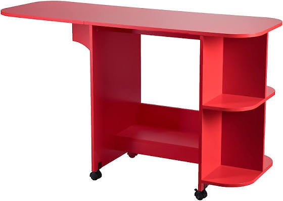 Expandable Rolling Sewing Table/Craft Station Farmhouse Red - Aiden Lane