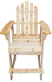 Pier Surplus Pier Surplus Balcony Tall / Counter High Adirondack Chair with Footrest - Natural Wood