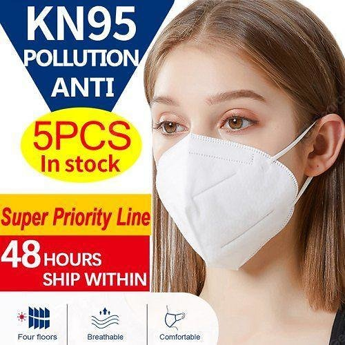 KN95 N95 Non-medical PM2.5 Dust Face Mask Pollution Protection 4-Layer with Melt-blown Filter