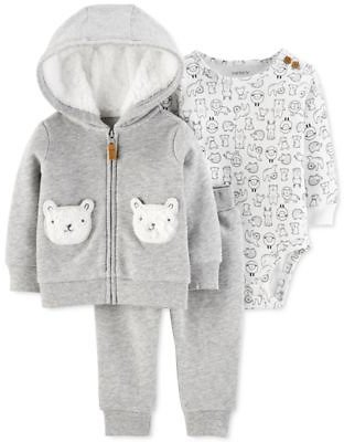 Carter's Baby Boys & Girls 3-Pc. Printed Bodysuit, Hoodie & Jogger Pants Set & Reviews - Sets & Outfits - Kids