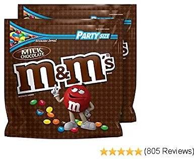M&M'S Milk Chocolate Candy Party Size Bag, 38-Ounce (Pack of 2)