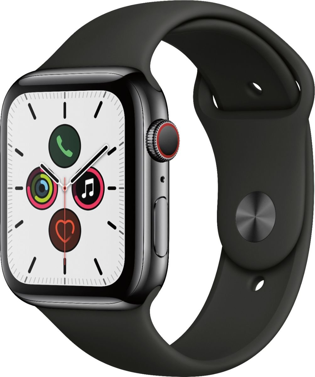 Save $300!  Apple Watch Series 5 (GPS + Cellular) 44mm Space Black + Free 6-mo. Apple Fitness