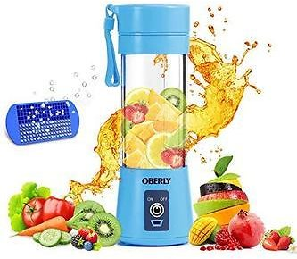 OBERLY OBERLY Portable Blender, OBERLY Smoothie Juicer Cup - Six Blades in 3D, 13oz Fruit Mixing Machine with 2000mAh USB Rechargeable