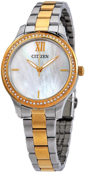 Mother of Pearl Dial Two-tone Ladies Watch + Ships Free