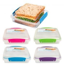 Sistema To Go Sandwich Food Storage Container - Latching Lid