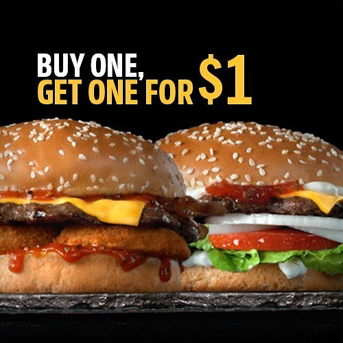 BOGO $1 Western Bacon or Famous Star!