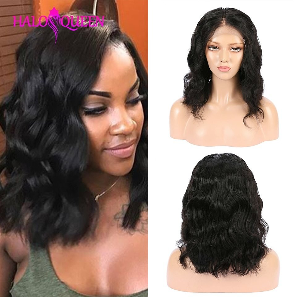 Body Wave Lace Front Human Hair Wigs Mid-length Wigs Pre-Plucked Lace Closure 13X4 Frontal Wigs